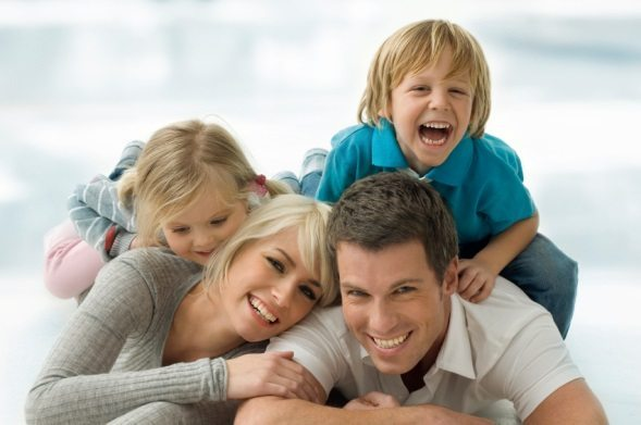 happy family with good income and financial plan