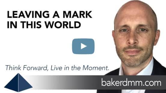 Leaving a Mark in this World Baker DMM Chris Baker Video Blog
