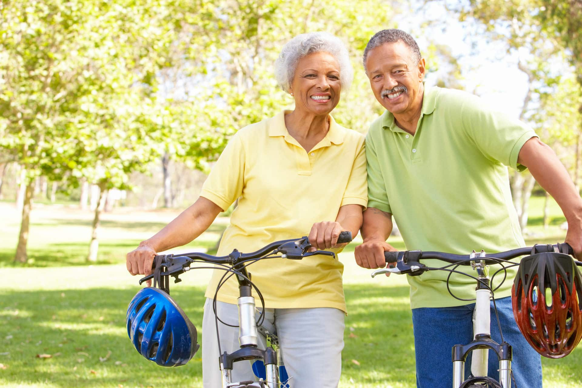 Smiling senior couple financial fraud solutions